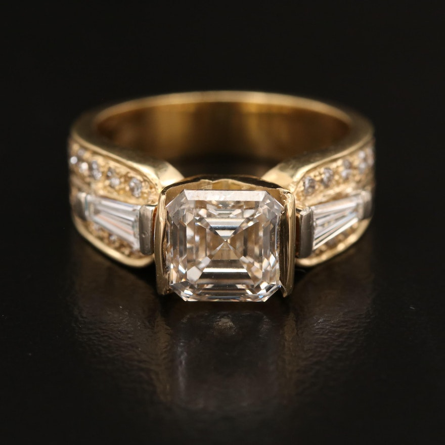 18K 3.54 CTW Diamond Ring