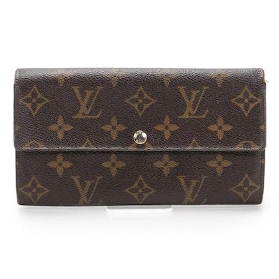 Louis Vuitton Portefuille Sarah in Monogram Canvas and Leather