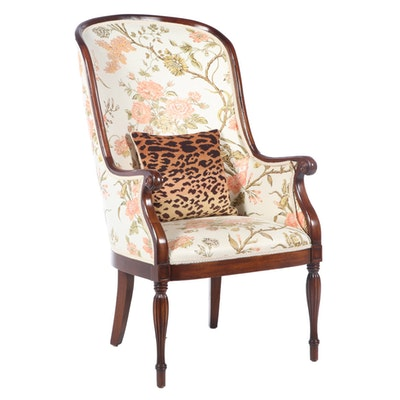 William IV Style Upholstered Carved Wood Armchair