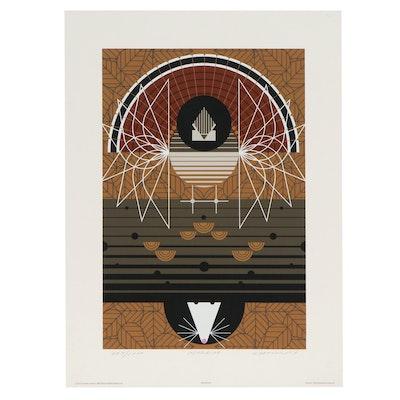 "Charley Harper Serigraph ""Wingding,"" 1985"