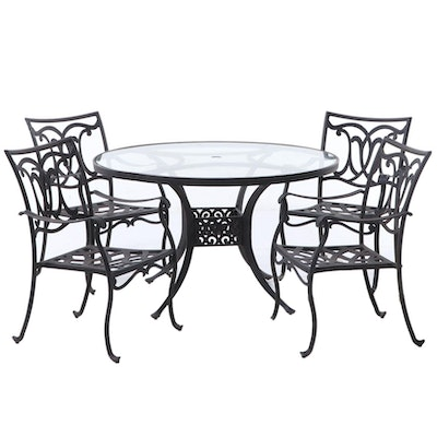 Cast Aluminum Patio Dining Table and Chairs