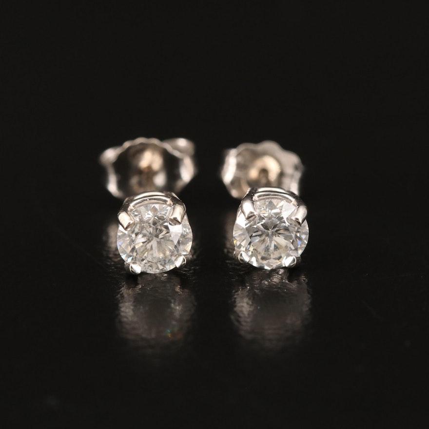 14K 0.74 CTW Diamond Stud Earrings