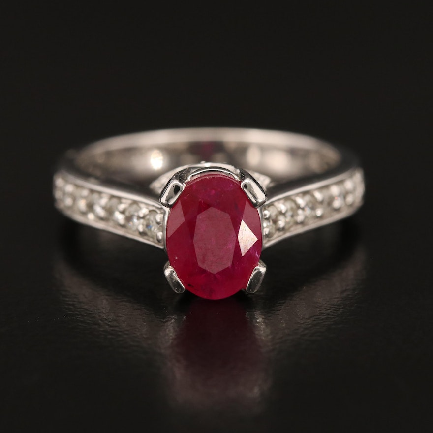 14K 1.47 CT Ruby and Diamond Ring