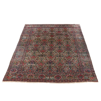 11'3 x 15'11 Hand-Knotted Persian Tabriz Room Sized Rug, circa 1880