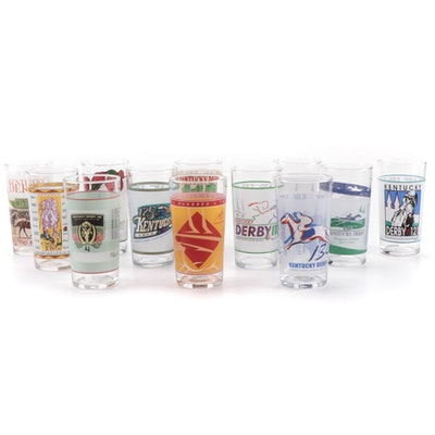 Kentucky Derby Annual Julep Glasses, 1985-2008