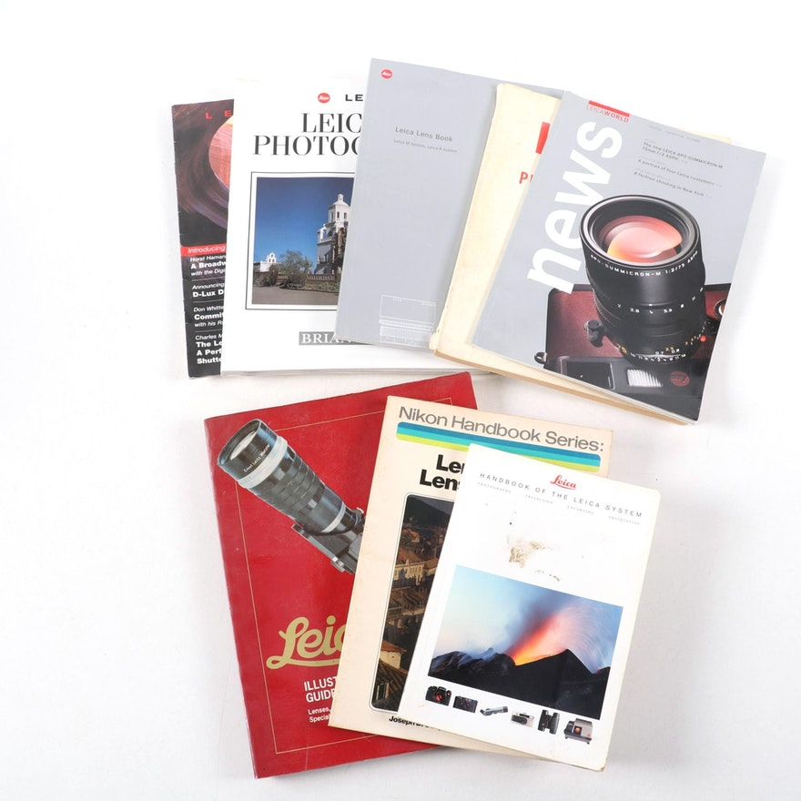 """Photography Books Including """"Lenses and Lens Systems"""" and """"Leica M Photography"""""""
