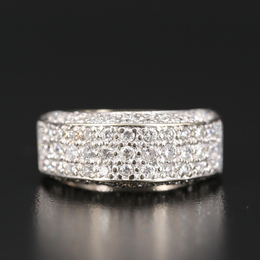 14K 1.53 CTW Diamond Domed Band
