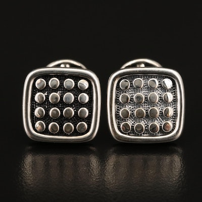 Scott Kay Sterling Silver Dot Pattern Cufflinks