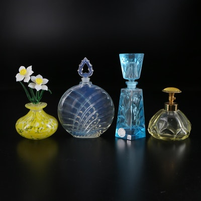 Perfume Bottles Featuring I. W. Rice and French Opalescent Glass