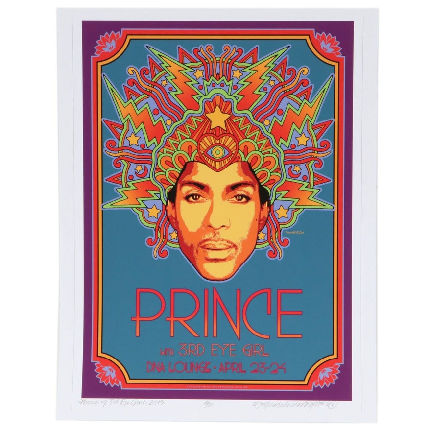 "David Edward Byrd Giclée ""Prince with 3rd Eye Girl - 2013,"" 2020"