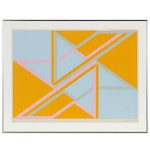 David Leverett Geometric Serigraph, Late 20th Century