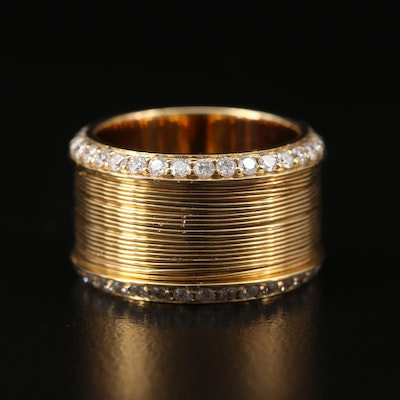 18K 1.36 CTW Diamond Coil Cigar Band