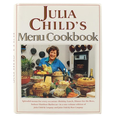 "Signed First Printing ""Julia Child's Menu Cookbook"" by Julia Child, 1991"