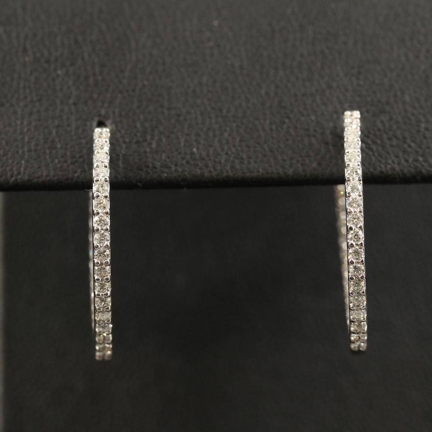 18K Diamond Inside-Out Hoop Earrings