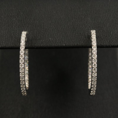 18K Diamond Inside-Out Hoop Earrings