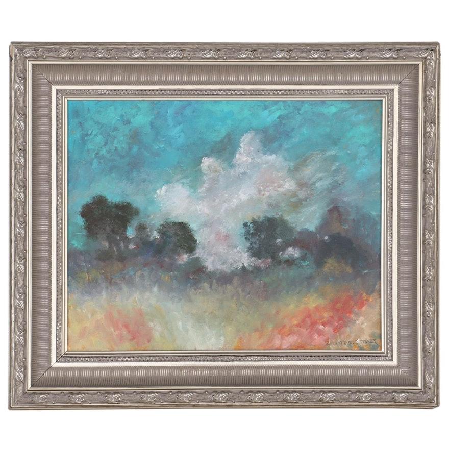 "Robert Riddle-Baker Acrylic Painting ""Storm,"" 2020"