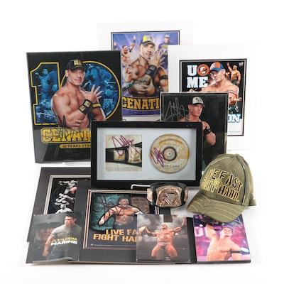 John Cena Signed Souvenir and Entertainment Items