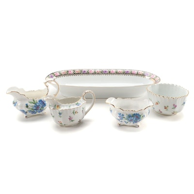 Carl Thieme Postchappel Hand Painted Cream and Sugar and Other Porcelain