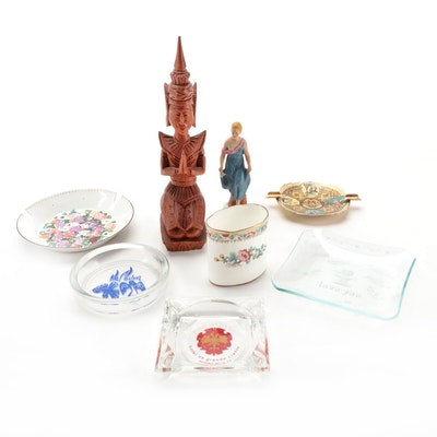 Souvenir Ashtrays with English and Balinese Figures