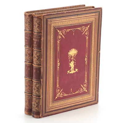 """The British Schools of Art"" Two-Volume Set by Henry Murray, 1880s"