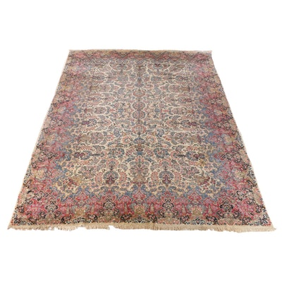 11'7 x 18'7 Hand-Knotted Persian Kerman Room Size Wool Rug