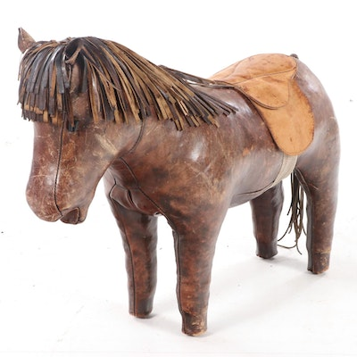 Dimitri Omersa For Abercrombie & Fitch Leather Horse Footstool