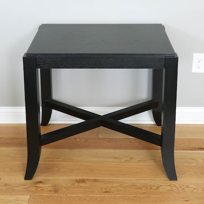 Contemporary Espresso Finish Wood End Table