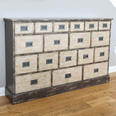 Home Meridian Narrow Chest of Drawers in Distressed Finish