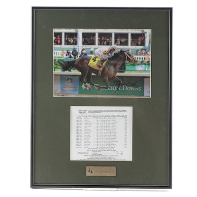 "Signed Photo Print of 2010 Kentucky Derby Winner ""Super Saver"""