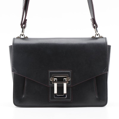 Proenza Schouler Medium Hava Shoulder Bag in Black Leather
