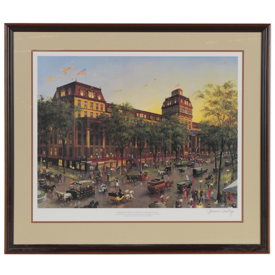 """Jenness Cortez Offset Lithograph """"The Grand Union Hotel"""""""