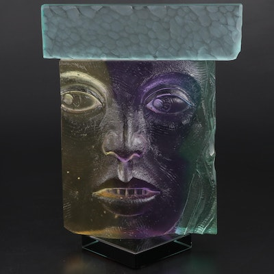 Fred di Frenzi Figural Art Glass Sculpture, 2006