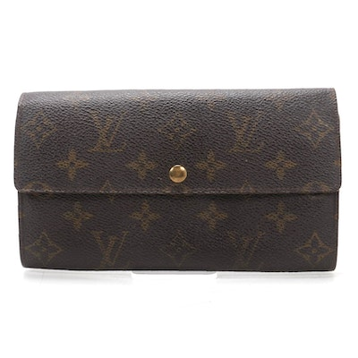 Louis Vuitton Pochette Porte-Monnaie Credit in Monogram Canvas and Leather