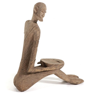 Dogon Style Hand-Carved Wood Figure, West Africa