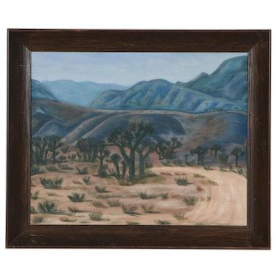 B. J. Grady Oil Painting of Southwestern Desert Landscape