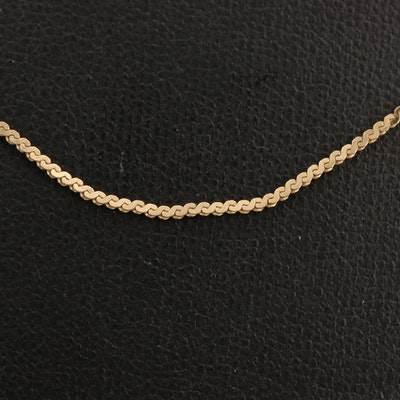 14K Serpentine Chain Necklace