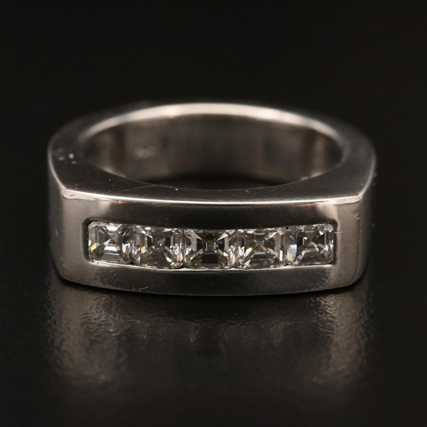 Platinum 1.47 CTW Diamond Ring