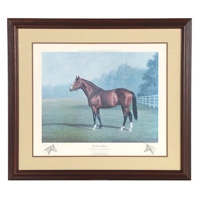 "Richard Stone Reeves Offset Lithograph ""Northern Dancer,"" 1983"