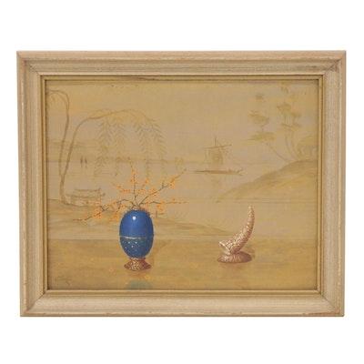 Alfonso T. Torán Still Life Oil Painting