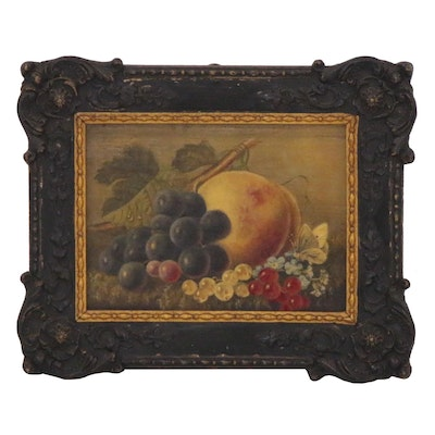 Still Life Oil Painting with Fruit, circa 1878