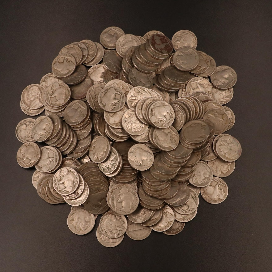 Approximately 258 Buffalo Nickels, 1920s–1930s