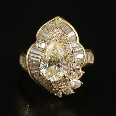 18K 4.34 CTW Diamond Ring