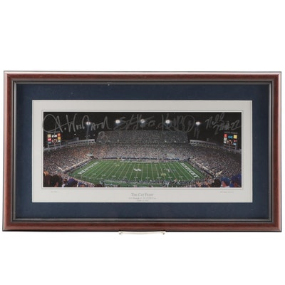 "UK vs UofL Football ""The Cat Fight"" Signed Framed Photo Print, October 13, 2007"