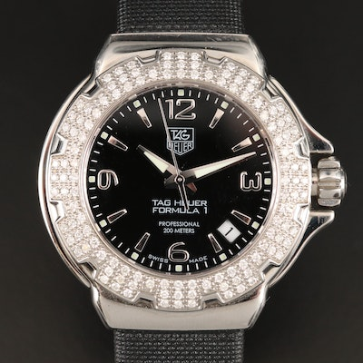 TAG Heuer Formula 1 Stainless Steel and Diamonds Quartz Wristwatch