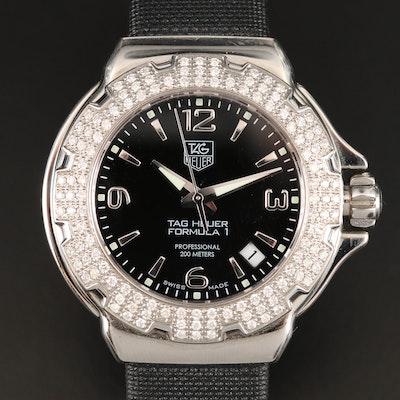 TAG Heuer Formula 1 Stainless Steel and Diamonds Quartz Wristwatch