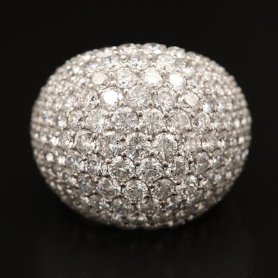 Platinum 8.01 CTW Pavé Diamond Dome Ring