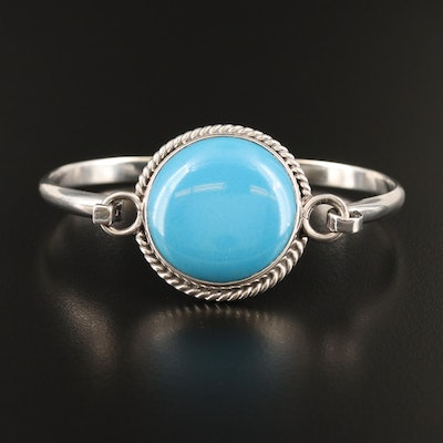 Mexican Sterling Faux Turquoise Bangle