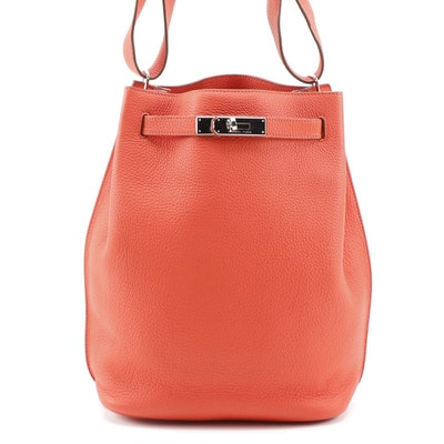 Hermès So Kelly 22cm Bag in Capucine Togo Leather