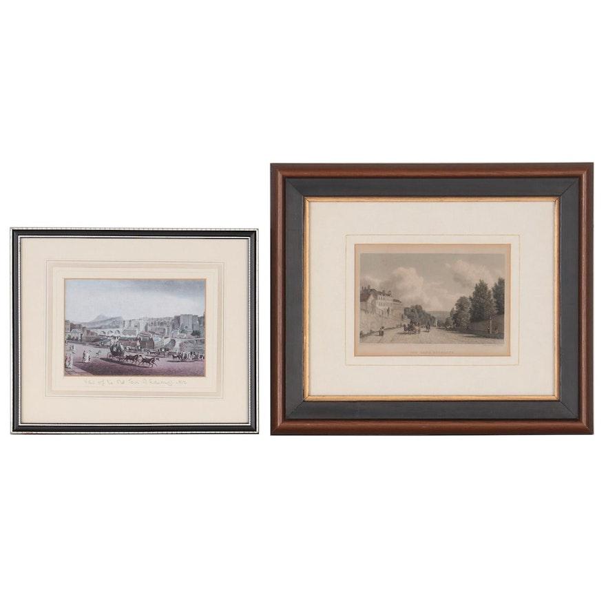 Edward Finden Etching after William Westall and Edinburgh Offset Lithograph