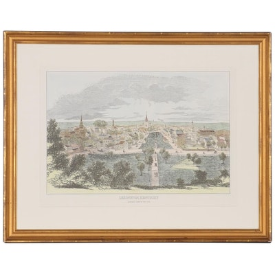 "Hand-Colored Lithograph ""Lexington, Kentucky"""